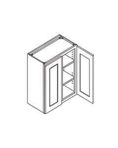 30 inch HEIGHT WALL GLASS DOOR CABINETS-Shaker Espresso