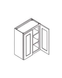 36 inch HEIGHT WALL GLASS DOOR CABINETS-Shaker Espresso