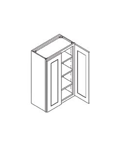 42 inch HEIGHT WALL GLASS DOOR CABINETS-Shaker Espresso