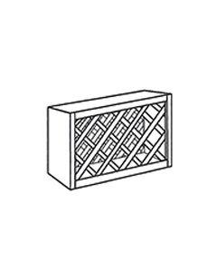 Wall Wine Rack Cabinet-Shaker Grey